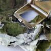 Pflanzenfarbstoff Ramieblätter Makro