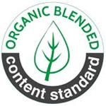 """Für einen Minimalgehalt von 5% kontrolliert biologisch erzeugter Naturfasern sieht das Label recht """"grün"""" aus."""